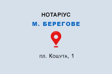 Денисенко Катерина Володимирівна Закарпатська обл., м. Берегове, 90202, пл. Кошута, 1