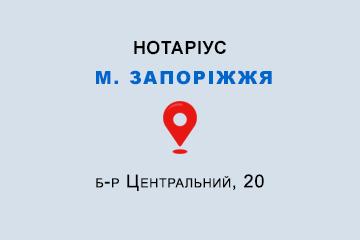 Кибальна Тетяна Миколаївна Запорізька обл., м. Запоріжжя, б-р Центральний, 20