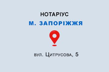 Кисельова Вікторія Вікторівна Запорізька обл., м. Запоріжжя, 69071, вул. Цитрусова, 5