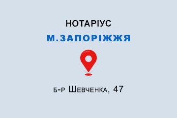 Коцило Світлана Василівна Запорізька обл., м. Запоріжжя, б-р Шевченка, 47