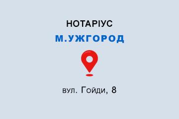 Кондратенко Олена Анатоліївна Закарпатська обл., м. Ужгород, 88008, вул. Гойди, 8