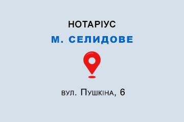 Шарафєєва Ірина Вадимівна Донецька обл., м. Селидове, 85400, вул. Пушкіна, 6