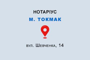 Зиріна Ольга Юріївна Запорізька обл., м. Токмак, 72312, вул. Шевченка, 14