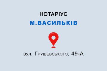 Бобкова Ірина Олександрівна Київська обл., м. Васильків, 08600, вул. Грушевського, 49-А