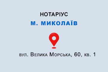 Душейко Олеся Михайлівна Миколаївська обл., м. Миколаїв, 54001, вул. Велика Морська, 60, кв. 1