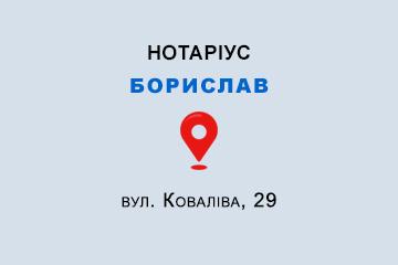 Фірман Борис Ілліч Львівська обл., м. Борислав, 82300, вул. Коваліва, 29