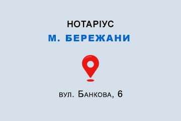 Гетьман Ірина Михайлівна Тернопільська обл., м. Бережани, 47500, вул. Банкова, 6