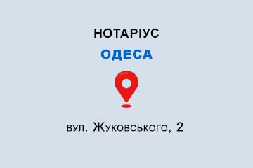 Кот Дмитро Геннадійович Одеська обл., м. Одеса, 65014, вул. Жуковського, 2