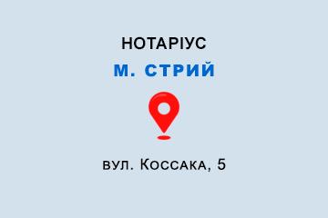 Палінська Ольга Володимирівна Львівська обл., м. Стрий, 80400, вул. Коссака, 5