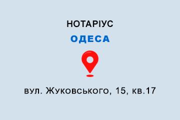 Петровська Олена Володимирівна Одеська обл., м. Одеса, 65026, вул. Жуковського, 15, кв.17