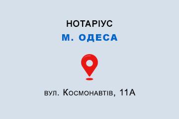 Савицька Олена Юліанівна Одеська обл., м. Одеса, 65080, вул. Космонавтів, 11А