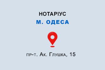 Василенко Олена Вікторівна Одеська обл., м. Одеса, 65104, пр-т. Ак. Глушка, 15