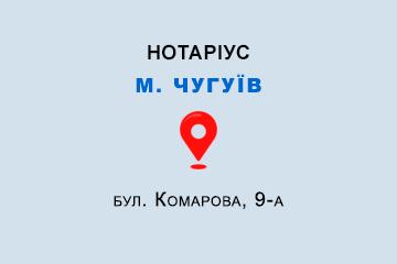Гусейнова Еллада Геннадіївна Харківська обл., м. Чугуїв, 63500, бул. Комарова, 9-а